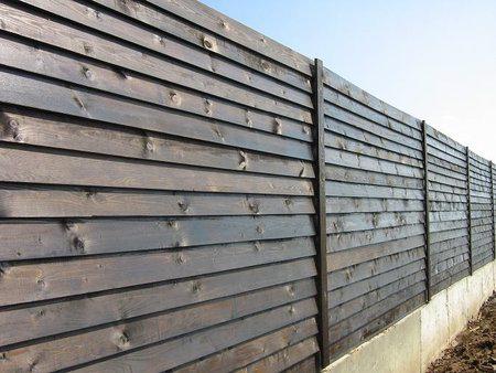 Забор лесенка