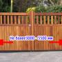 Про оптимальную длину ворот в заборе