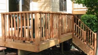 Деревянные перила для крыльца: изготовление и установка