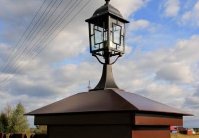 Готовые колпаки со светильниками