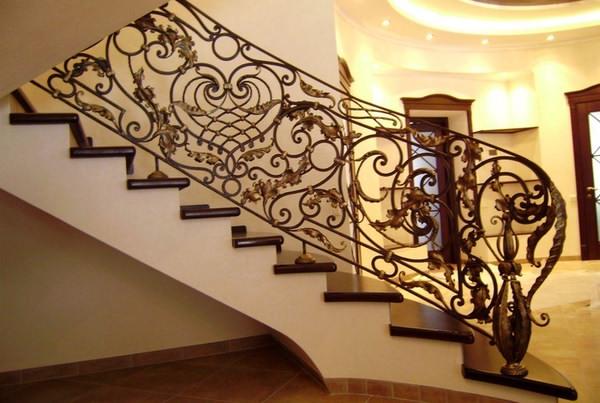 Кованые перила в стиле ренесанс
