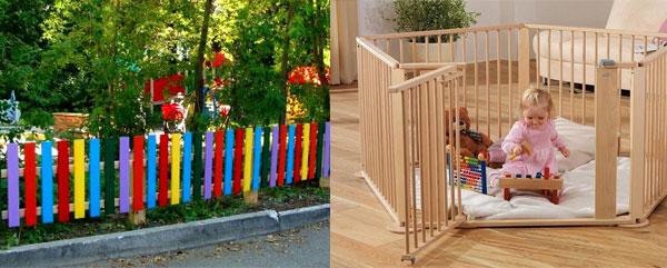 Детские заборчики из дерева