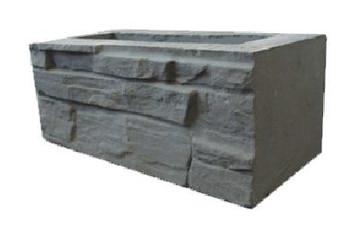 Декоративный бетонный блок колотый кирпич