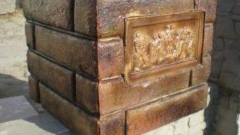 Декоративные наборные блоки для столбов забора
