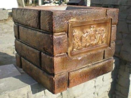 Декоративный блок для столба забора