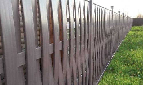 ПВХ забор - плетень