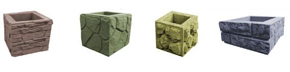 Декоративные блоки для столбов разного цвета и фактуры