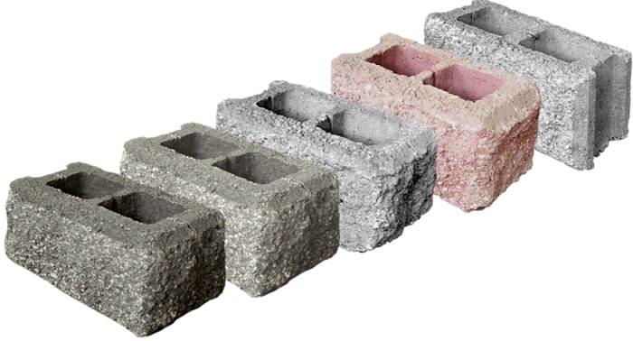 Сплитерные бетонные блоки рваный гранит