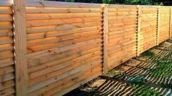 Забор из дерева «Ёлочка»