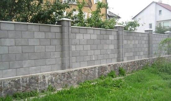 Бетонный забор из блоков