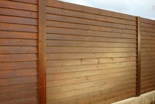 деревянный забор лесенка (ёлочка)