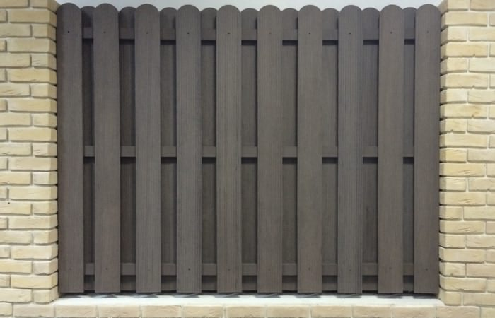 Забор шахматка из древесно полимерного композита