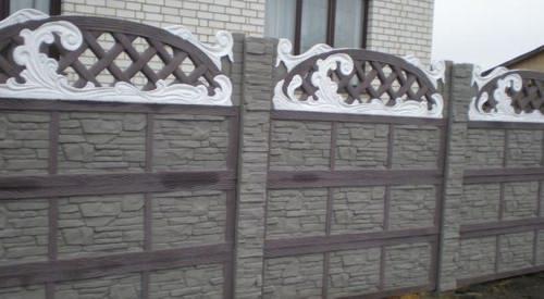 Декоративный секционный забор из бетона