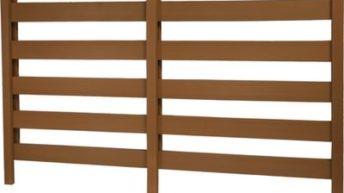 Деревянный забор из готовых секций