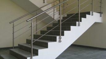 Перила для установки на бетонные лестницы