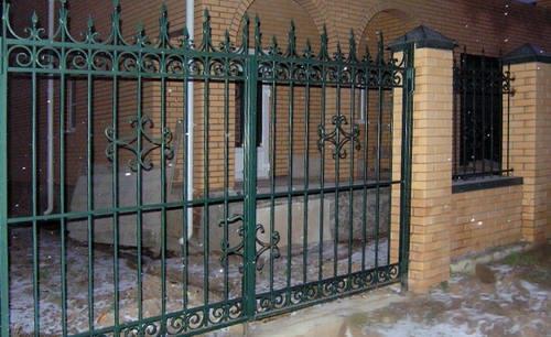 Ворота сделанные только из кованых элементов
