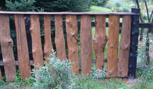 Вертикальный забор из горбыля