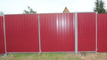 Конструкции и монтаж распашных металлических ворот для дачи