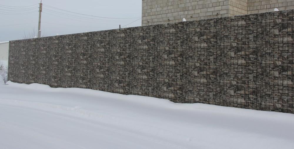 Забор из профнастила имитирующего камень