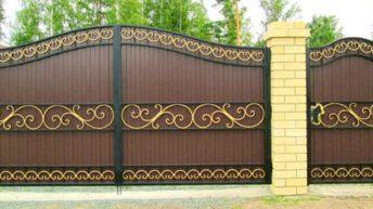 Различные варианты красивых ворот