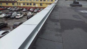 Защита парапетов фартуками из оцинкованной стали
