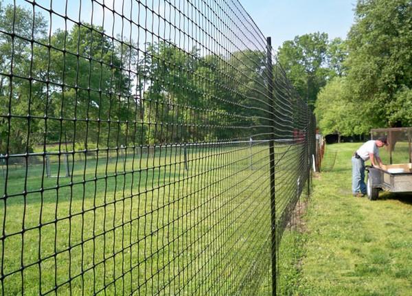 Высокий забор из пластиковой сетки