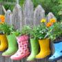 Как можно украсить забор цветами, растениями и не только