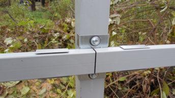 Как сделать забор из профнастила без применения сварки