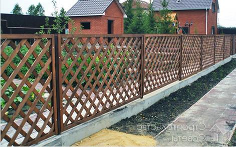 Красивый забор решетка из штакетника