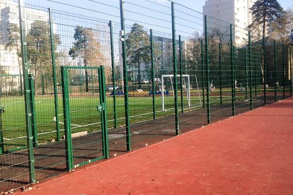 Ограждение спортивной площадки из 3д сетки