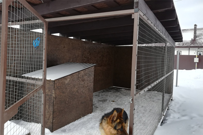 Уличный вольер для собаки