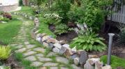 Из чего сделать бордюры для садовых дорожек