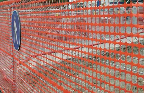 Пластиковая сетка для ограждения стройплощадки