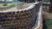 Заборы из пластиковых ПЭТ бутылок