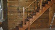 Перила для лестницы дачного домика