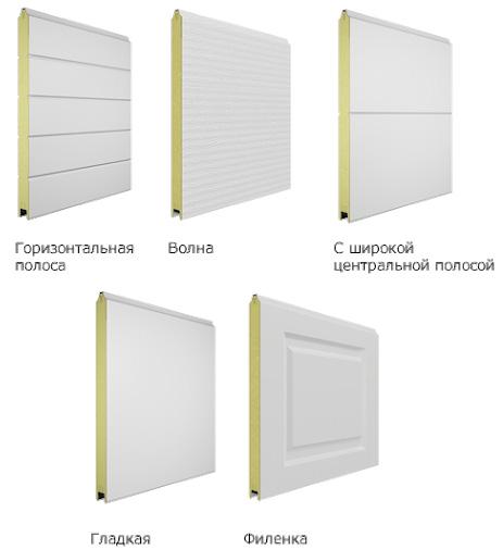 Дизайн панелей секционных ворот Doorhan